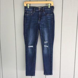 Gap destructed easy legging ankle skinny jeans